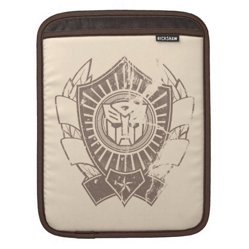 Autobot Distressed Badge Sleeves For iPads