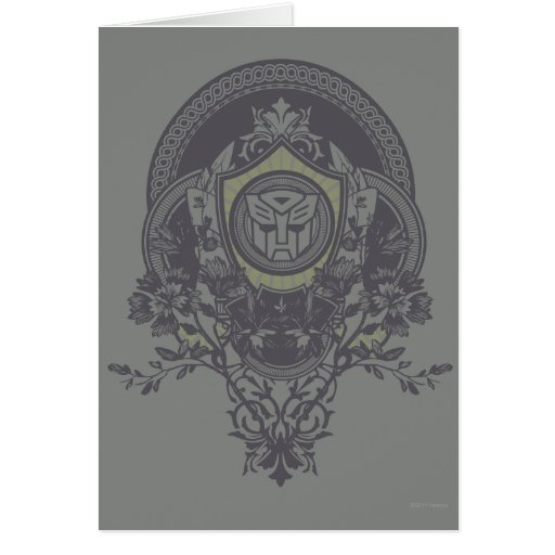Autobot Floral Badge 2 Card
