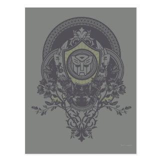 Autobot Floral Badge 2 Postcard