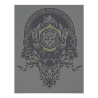 Autobot Floral Badge 2 Poster