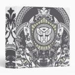 Autobot Floral Badge Binder