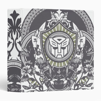 Autobot Floral Badge Binder