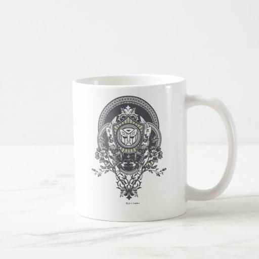 Autobot Floral Badge Coffee Mugs