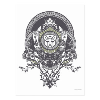 Autobot Floral Badge Postcard