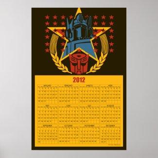 Autobot Patriotic Badge 2012 Calendar Poster print