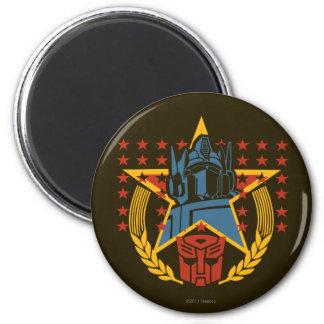 Autobot Patriotic Badge 2 Inch Round Magnet