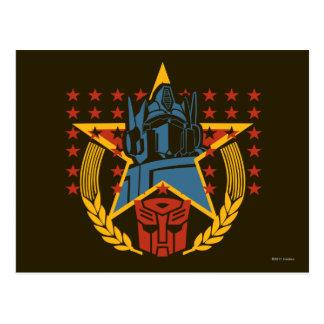Autobot Patriotic Badge Postcard