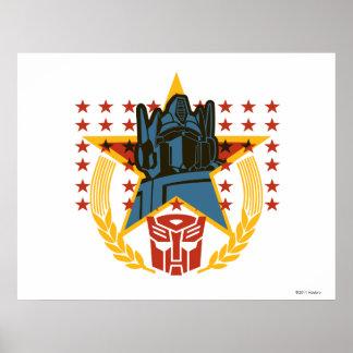 Autobot Patriotic Badge Poster