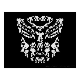 Autobot Shield Collage (White) Poster