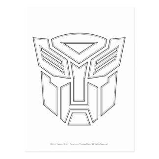 Autobot Shield Line Postcard