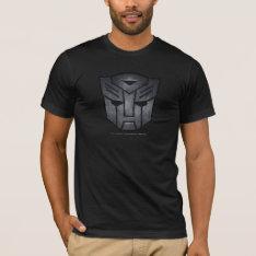 Autobot Shield Metal T-shirt at Zazzle