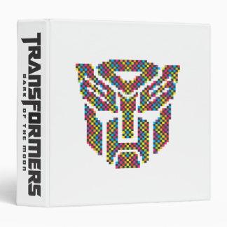 Autobot Shield Pixels 3 Ring Binder