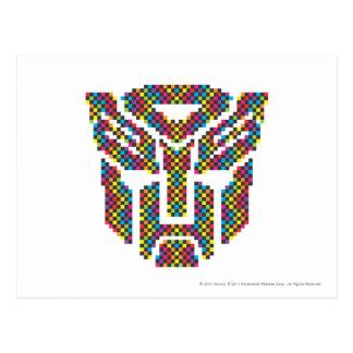 Autobot Shield Pixels Postcard