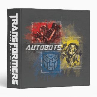"Autobots Stylized el grupo TF3 Carpeta 1 1/2"""
