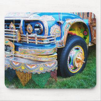 Autobús adornado tapete de ratón