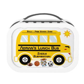 Autobús amarillo del almuerzo escolar