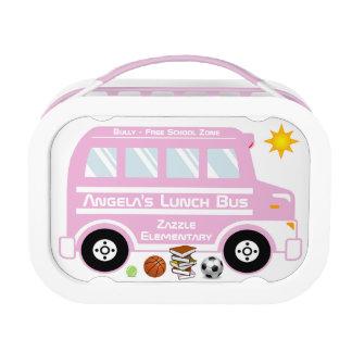 Autobús azul del almuerzo escolar