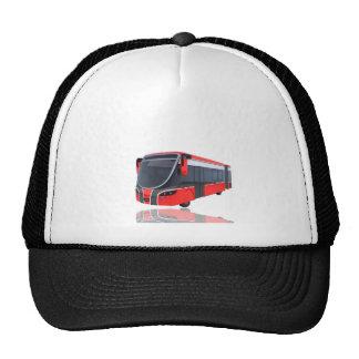 Autobús blanco y negro rojo en blanco gorro