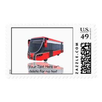 Autobús blanco y negro rojo en el fondo blanco