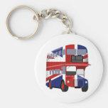 Autobús británico llaveros