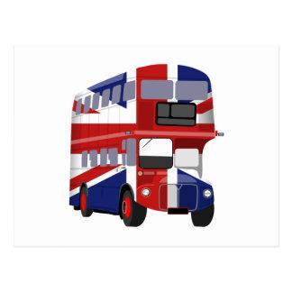 Autobús británico tarjeta postal