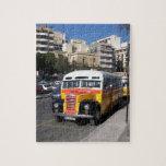 Autobús clásico de Thames en las calles Puzzle Con Fotos