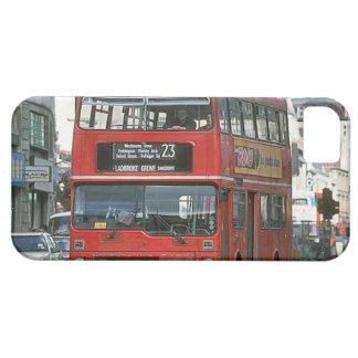 Autobús de autobús de dos pisos de Londres Funda Para iPhone 5 Barely There
