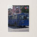 Autobús de carretilla rompecabeza con fotos