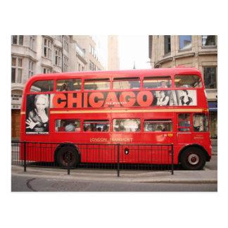 Autobús de Chicago, Londres… Postal