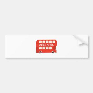 Autobús de dos pisos pegatina para auto