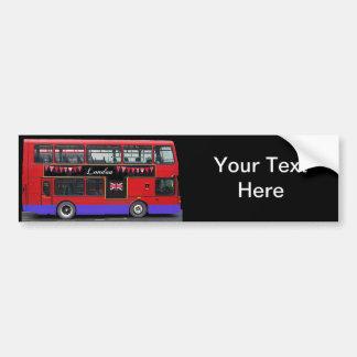 Autobús de dos pisos rojo del autobús de Londres Pegatina De Parachoque