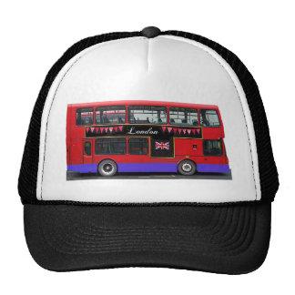 Autobús de dos pisos rojo del autobús de Londres Gorro De Camionero