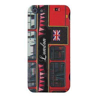 Autobús de dos pisos rojo del autobús de Londres iPhone 5 Carcasas