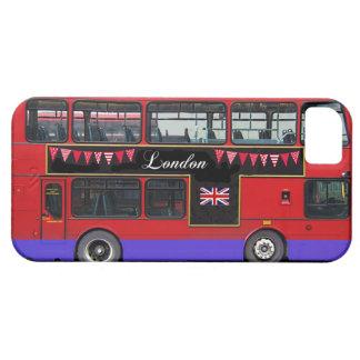 Autobús de dos pisos rojo del autobús de Londres iPhone 5 Funda