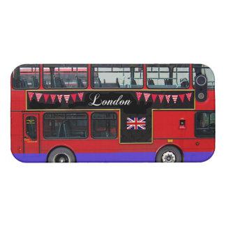 Autobús de dos pisos rojo del autobús de Londres iPhone 5 Fundas