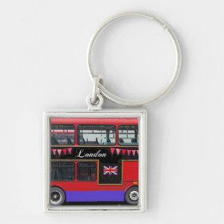 Autobús de dos pisos rojo del autobús de Londres Llavero Personalizado