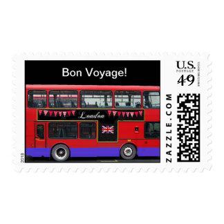 Autobús de dos pisos rojo del autobús de Londres Sellos