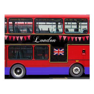 Autobús de dos pisos rojo del autobús de Londres Tarjeta Postal