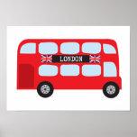 Autobús de dos plantas de Londres Posters