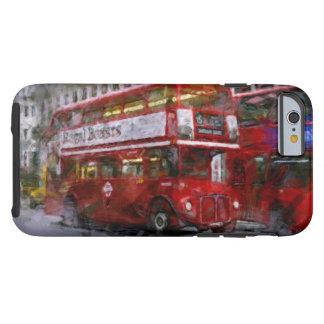 Autobús de dos plantas rojo del cuadrado de funda para iPhone 6 tough