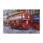 Autobús de dos plantas rojo del cuadrado de Trafal Impresiones En Lona