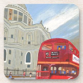 Autobús de la catedral y de Londres de San Pablo Posavasos De Bebida