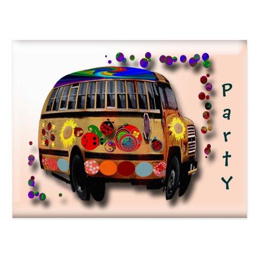 Autobús de la mariquita tarjeta postal