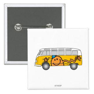 Autobús de las cosquillas pin cuadrado