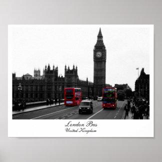 Autobús de Londres, Big Ben y las casas del Posters