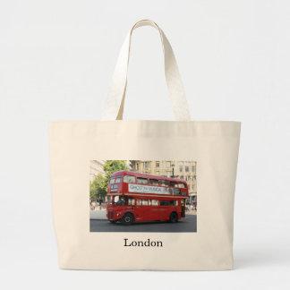 Autobús de Londres Bolsa De Tela Grande