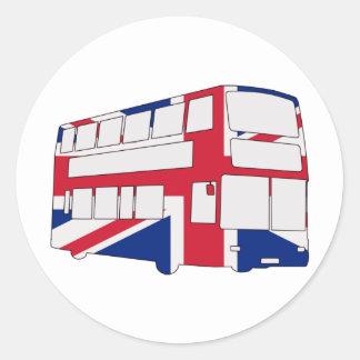 Autobús de Londres con las camisetas y los regalos Pegatina Redonda