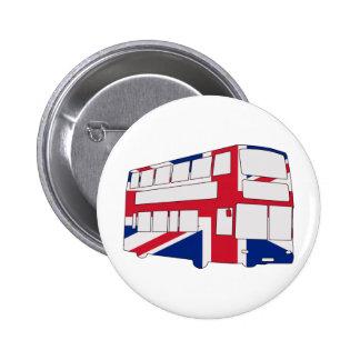 Autobús de Londres con las camisetas y los regalos Pin