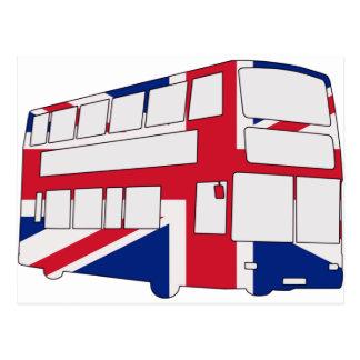 Autobús de Londres con las camisetas y los regalos Postal