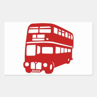 autobús de Londres del inglés Pegatina Rectangular
